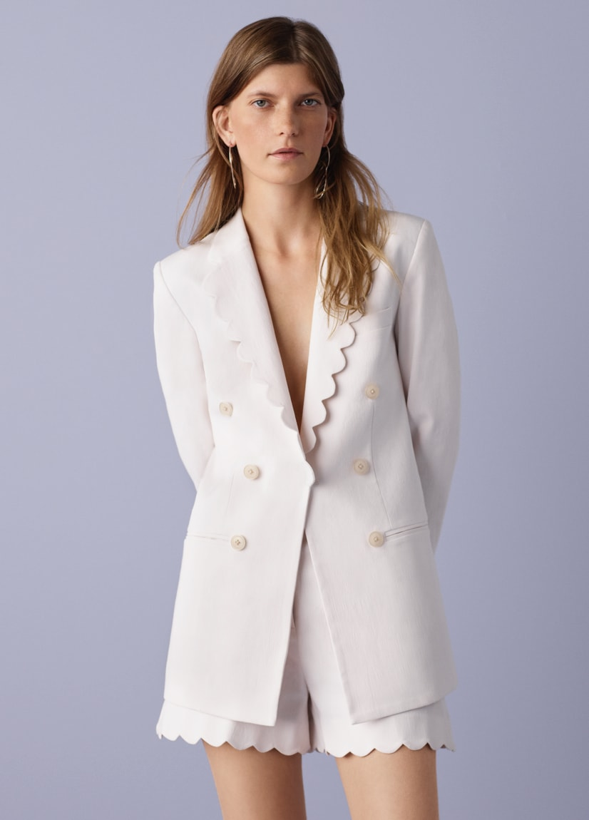 Scalloped Suiting Blazer