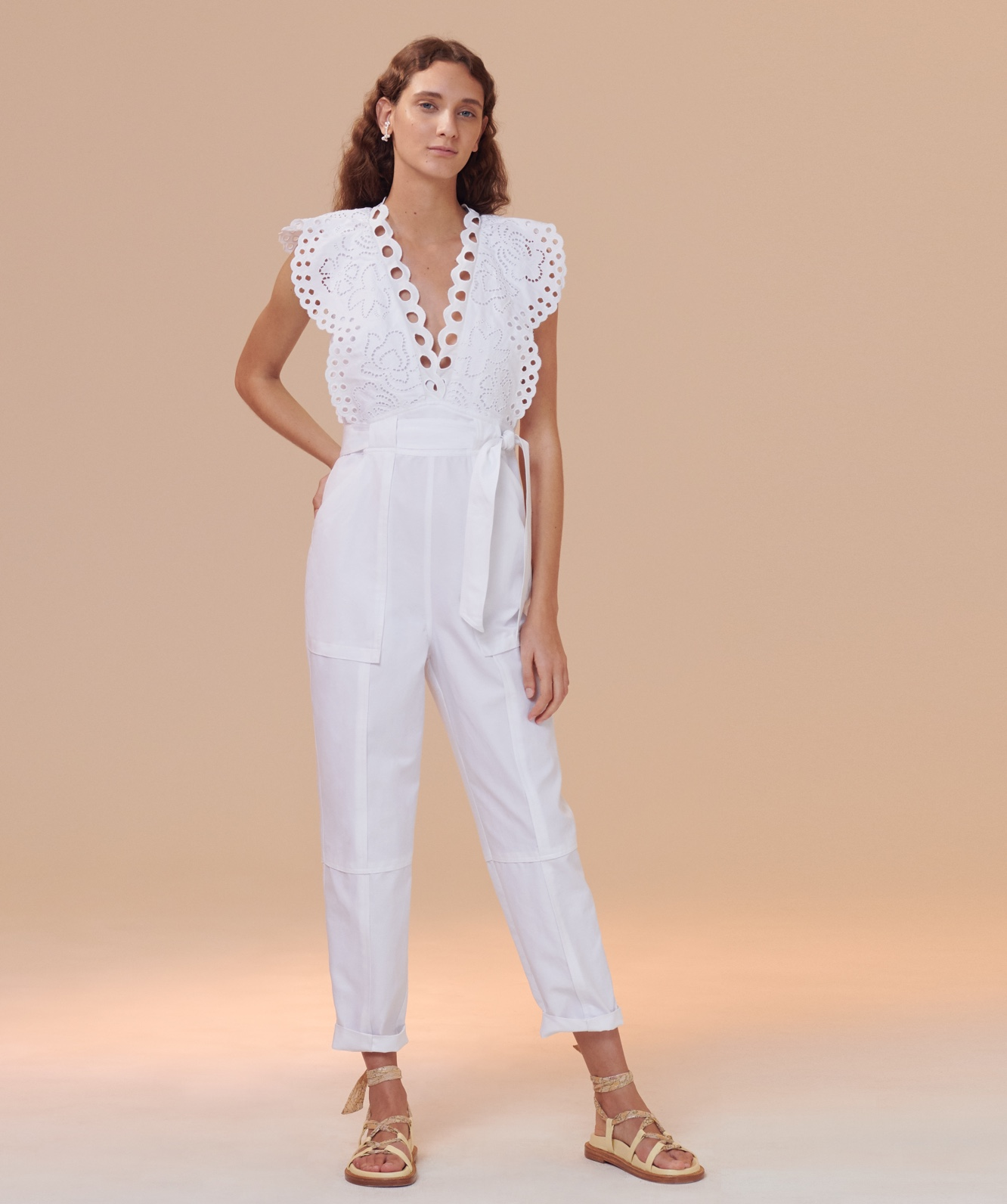 Ariana Eyelet Embroidered Jumpsuit