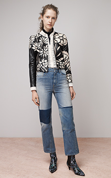 APPLIQUE LEATHER JACKET