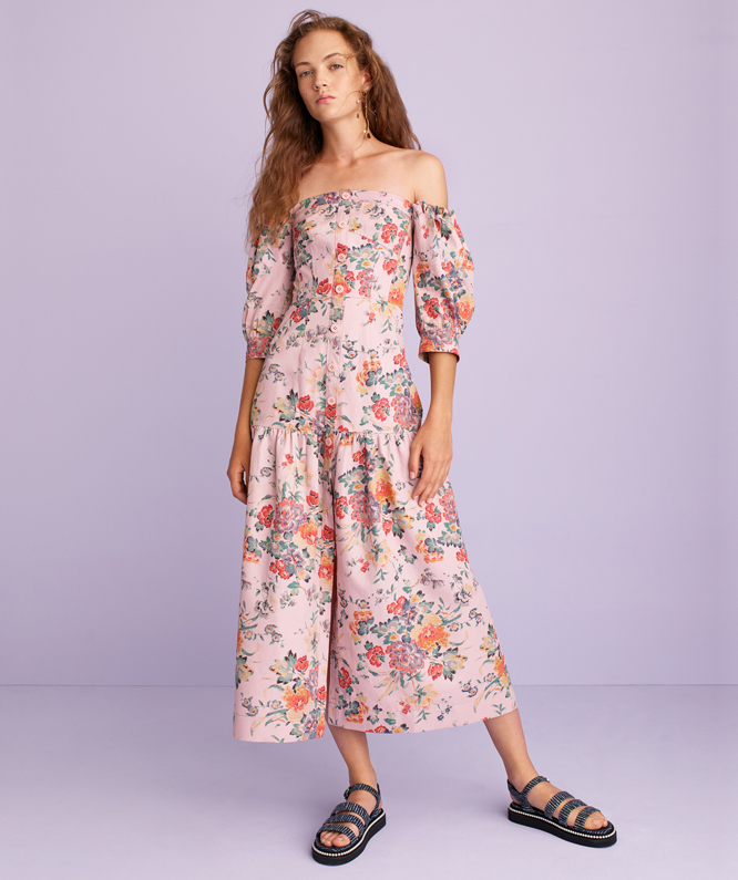 OFF-THE-SHOULDER MARLENA FLORAL DRESS
