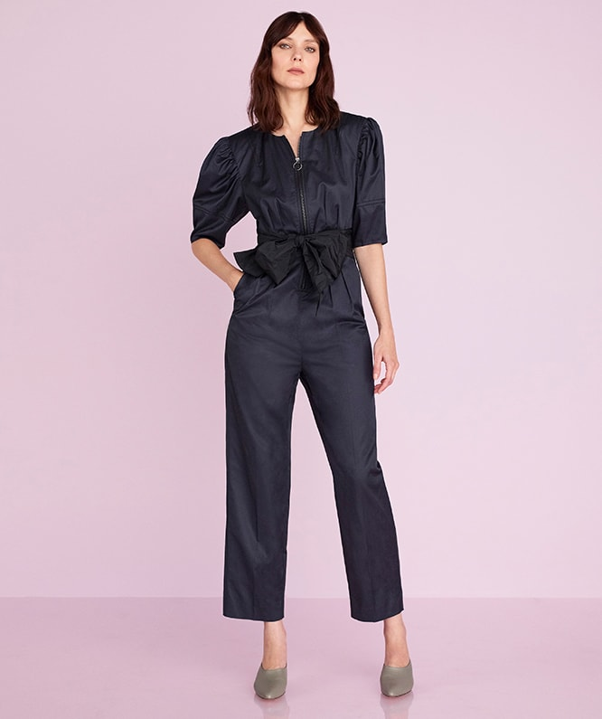 BROKEN SATEEN JUMPSUIT