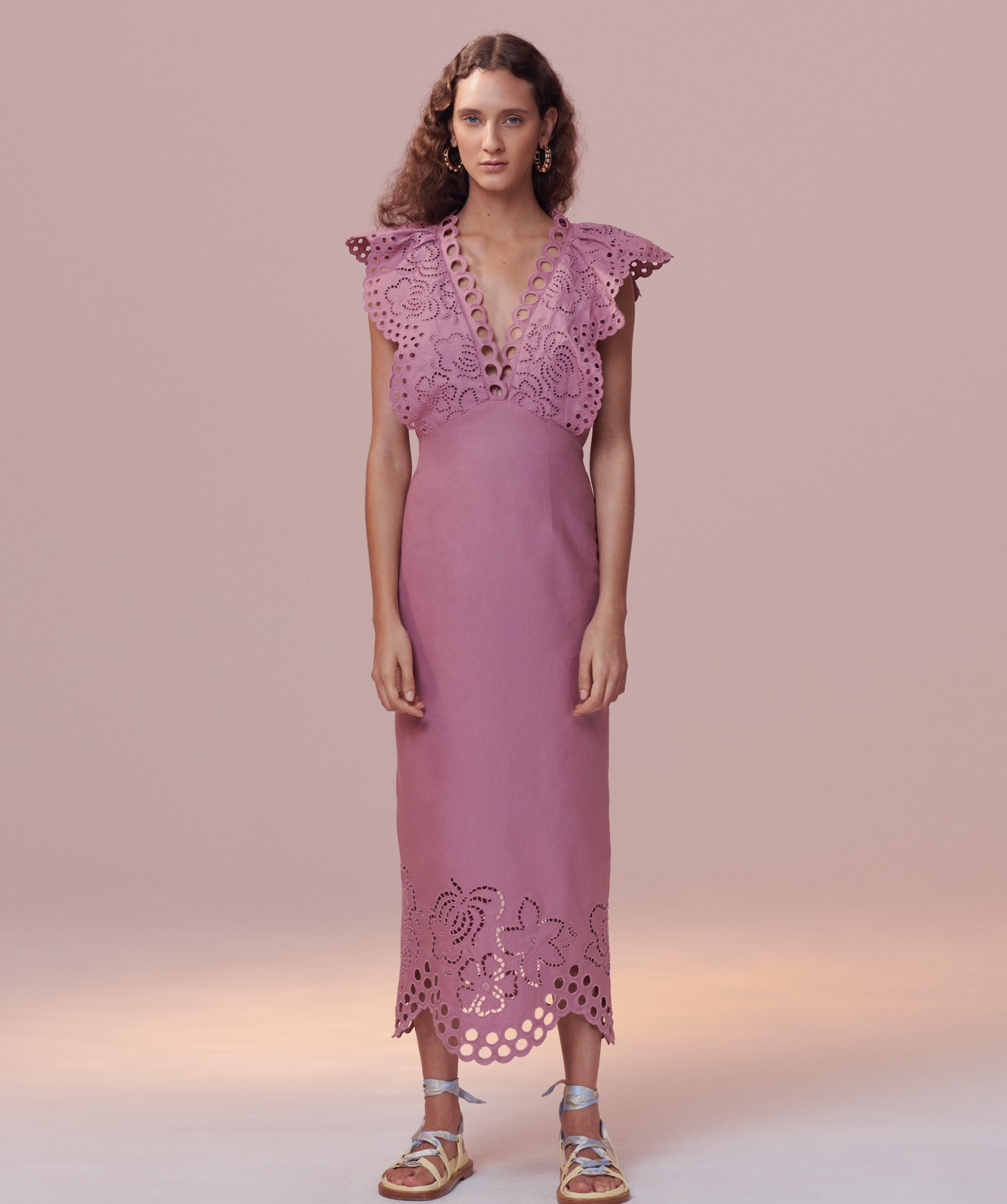 Ariana Eyelet Embroidered Dress