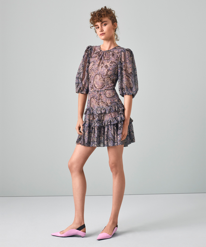 selene paisley voile dress