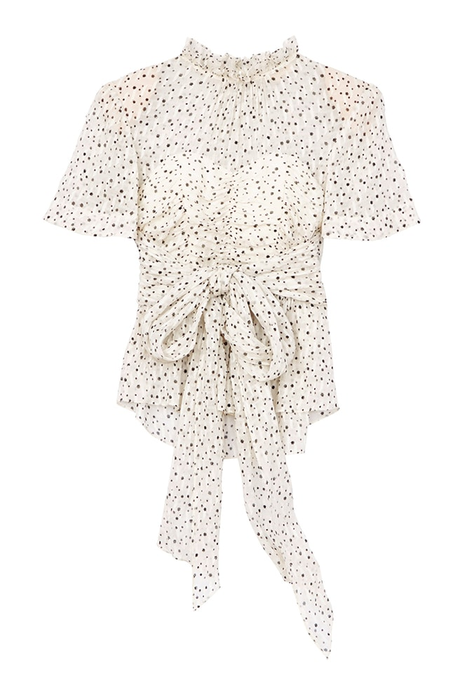 Scattered Star Print Wrap Top