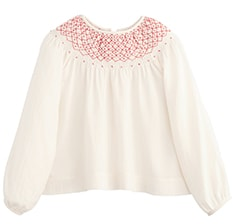 Smocked Twill Top