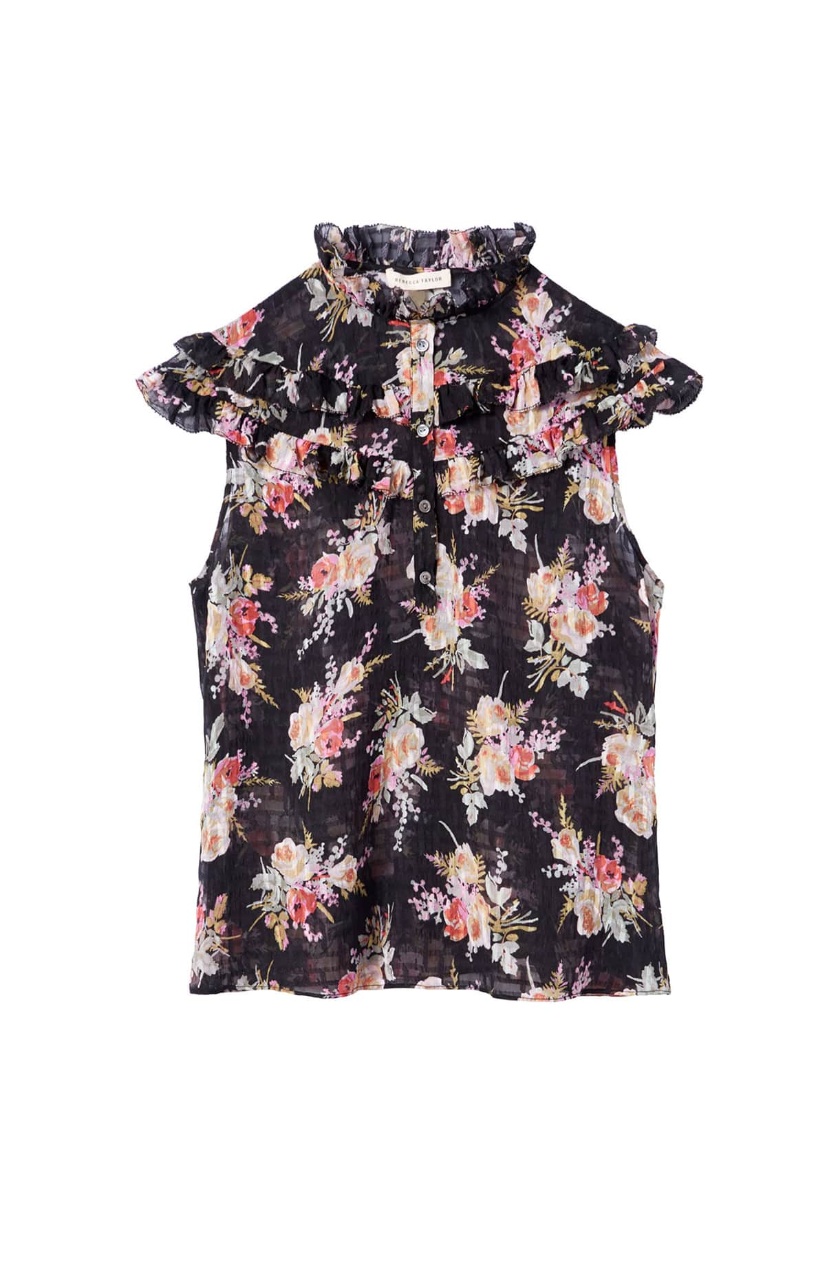 Bouqet Floral Ruffle Top