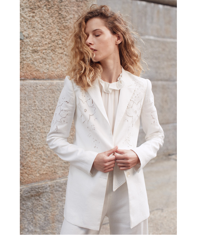 Tailored Silk & Stretch Modern Suiting Jumpsuit