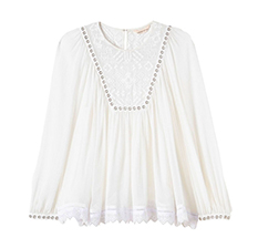 Stitched Square Embroidered Top