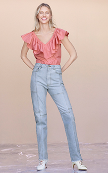 ON/OFF SHOULDER TAFFETA TOP