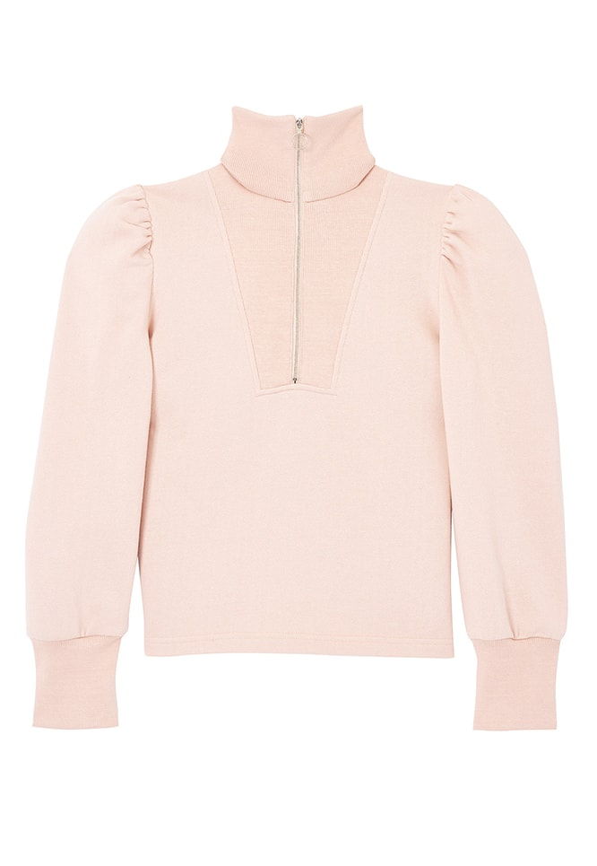 FLEECE TURTLENECK ZIP PULLOVER